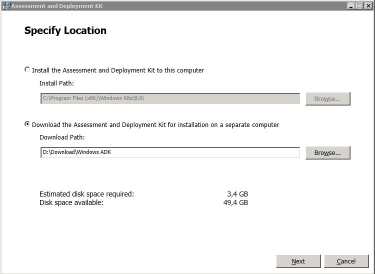 Windows ADK Setup