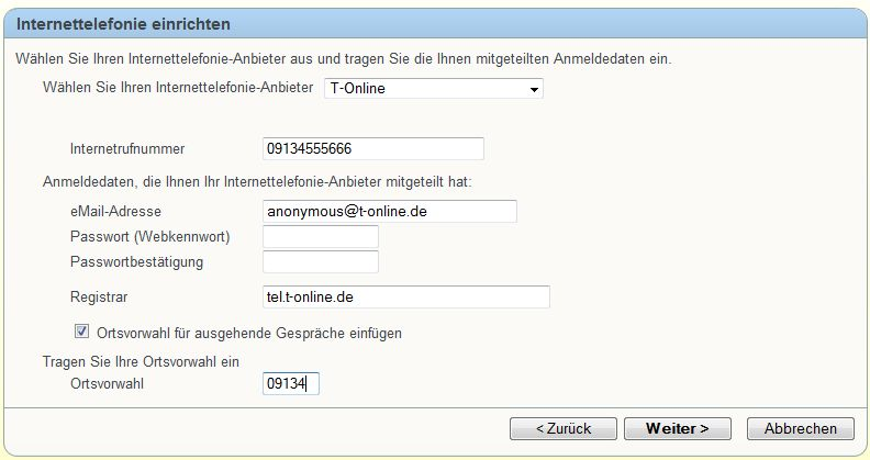 VoIP/SIP Parameter