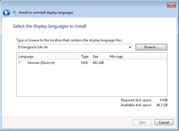 Language Pack GUI