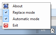 Tool in Notification area