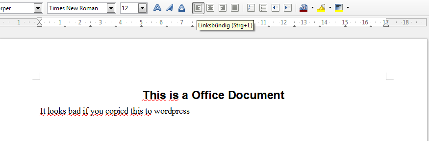 Formatted Office text
