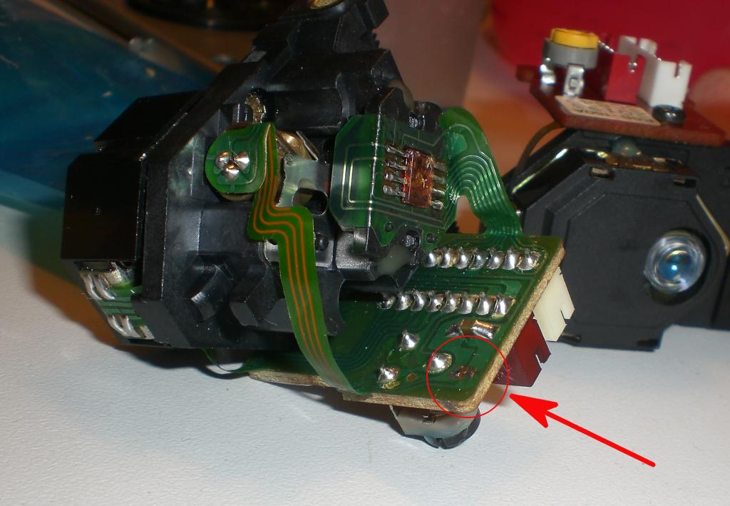 Removed solder point