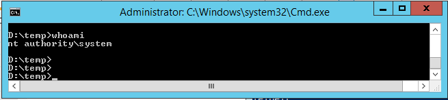 CMD with system rights