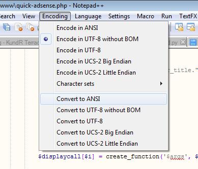 Convert to ANSI Encoding