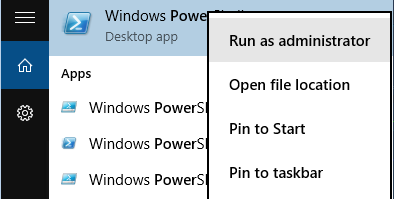 Start powershell elevated