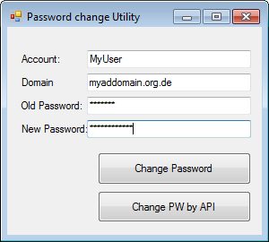 Active Directory PasswordChanger