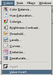 GIMP Invert Image