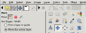 GIMP Move Layer