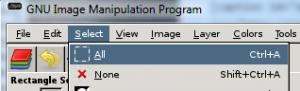 GIMP Select all