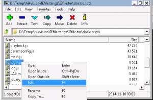 hikvision 7-zip Edit login.js
