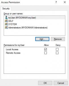 DCOM Access Permissions