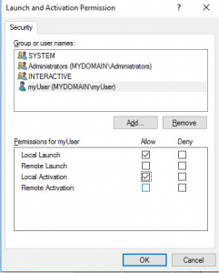 DCOM  Launch and Activation Permissions