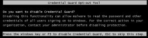 Disable Credential Guard