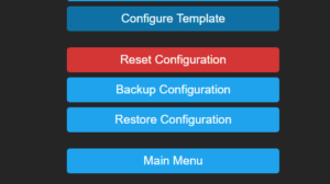 Tasmota Configure Template